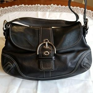 Coach Leather Flap shoulder bag